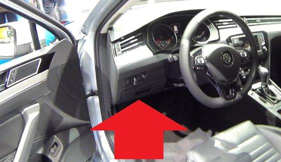 VW Passat B8 Mk8 OBD2 Diagnostic Port Location