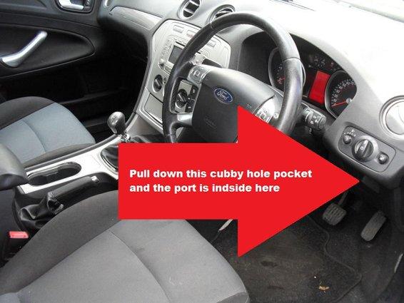 Vehicle Code Reader >> Ford Mondeo Mk4 diagnostic port location