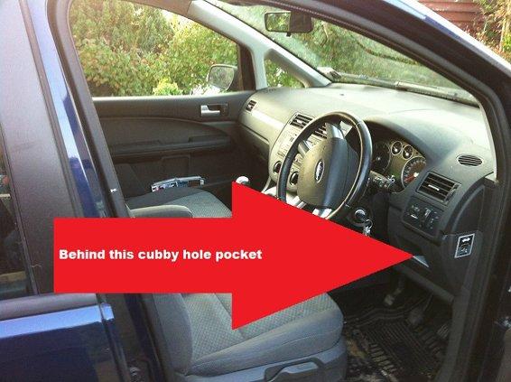 Ford C-Max diagnostic port location picture