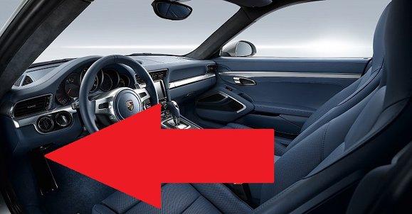 Porsche 911 991 diagnostic obd2 port location